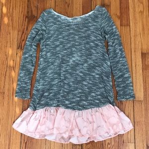 Sweaters - Sweater with Pink Ruffle